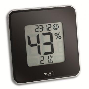 TFA 30.5021.01 - Style, Zwart Thermo-/hygrometer