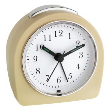 TFA 60.1021.09 - wekker (beige) Met wijzers, geruisloos