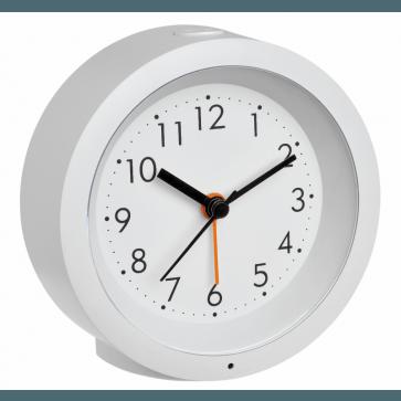 TFA 60.1029.02 - wekker Witte wekker met geruisloze wijzers
