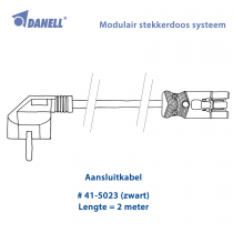 Danell Aansluitsnoer 2m (41-5023)