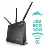 Stralingsarme wifi router JRS ECO 100 WiFi D2 op Asus
